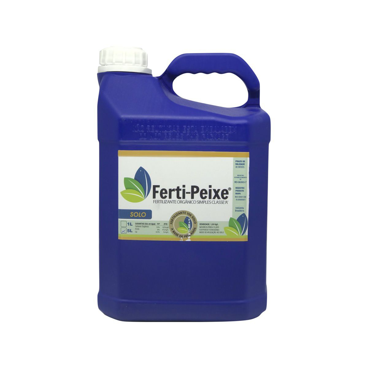 Fertilizante Orgânico Classe A (via solo) 5 litros - Ferti-Peixe