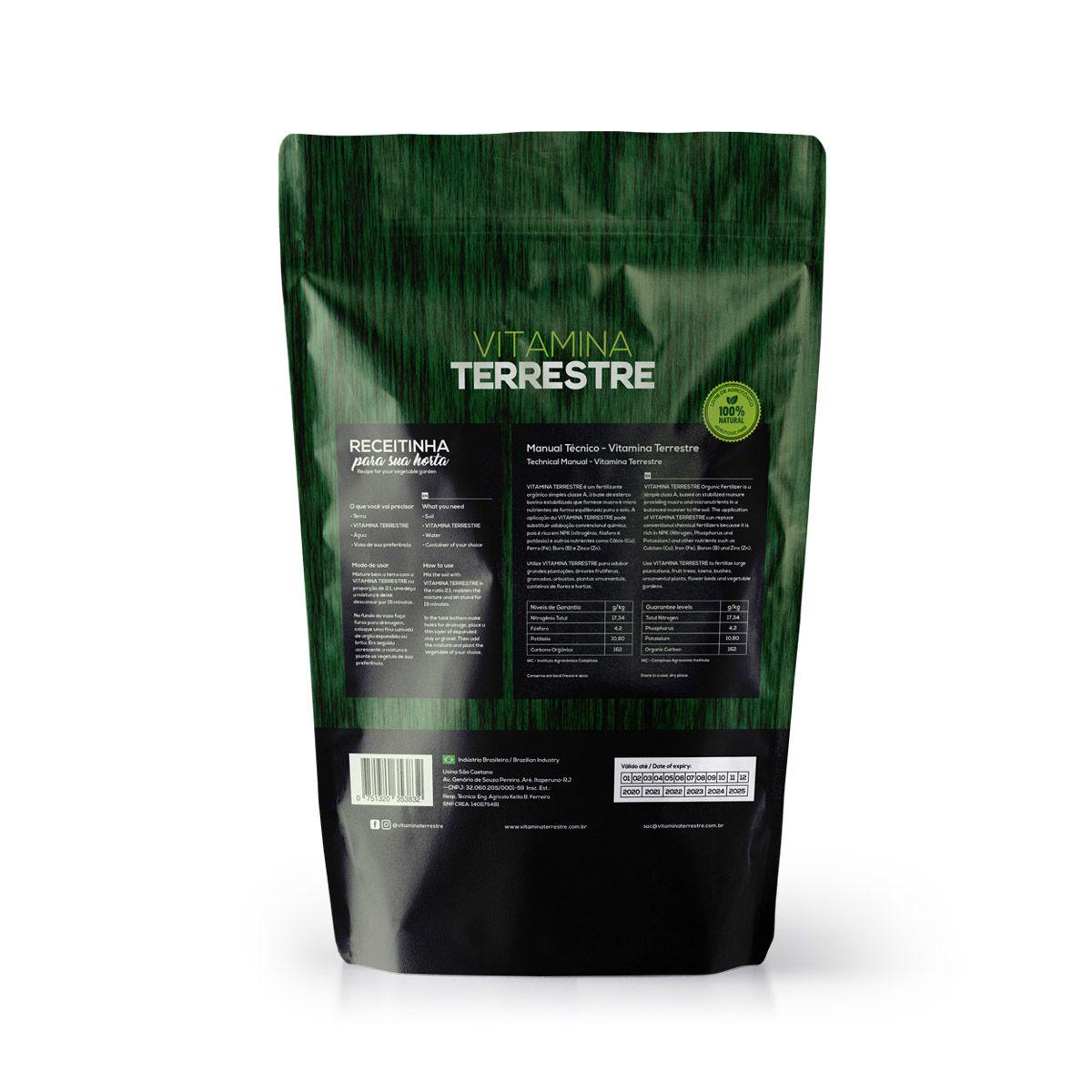 Fertilizante Orgânico Simples Classe A Vitamina Terrestre 100% Natural 1kg