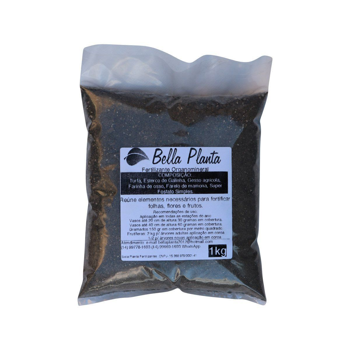 Fertilizante organomineral Classe A Bella Planta 1Kg