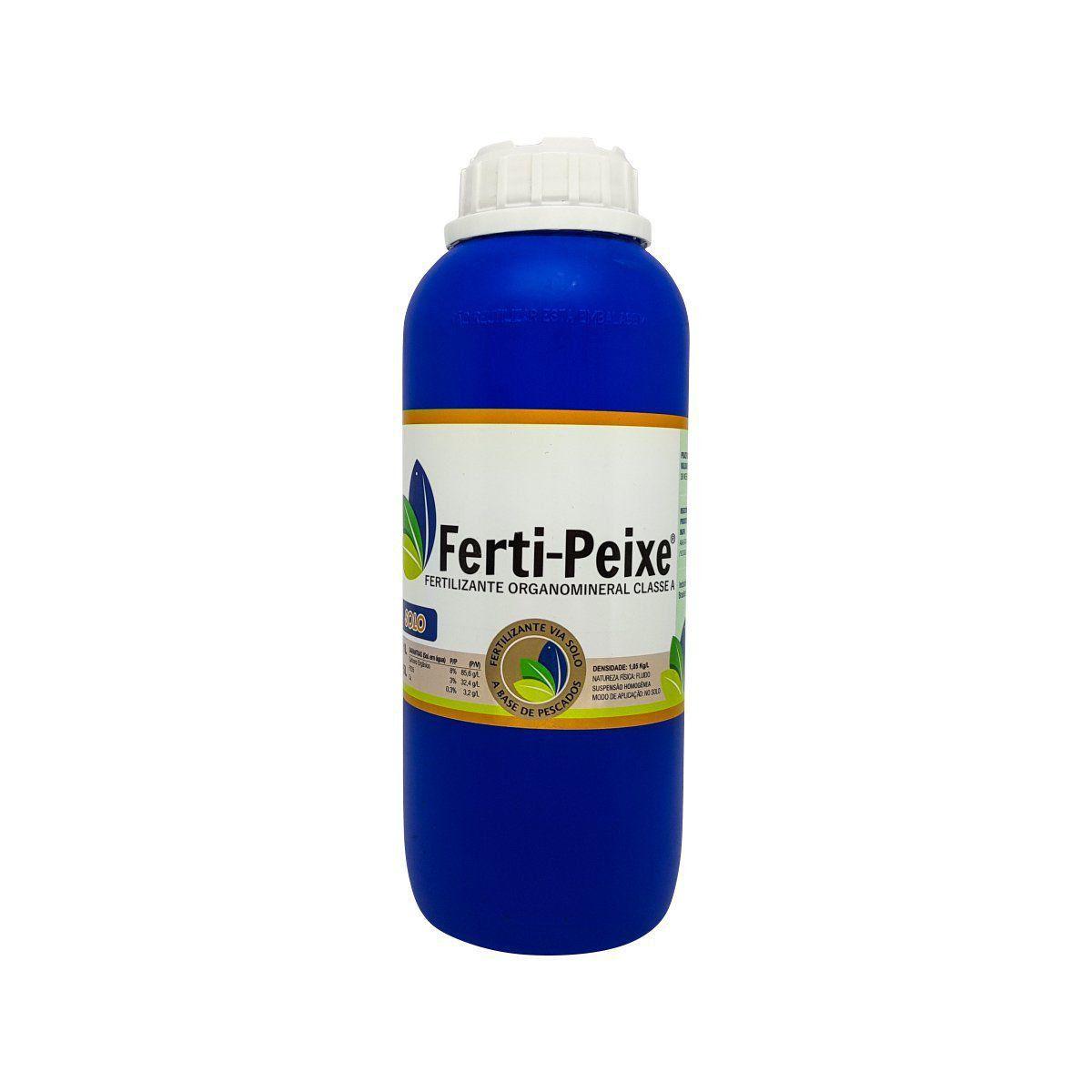 Fertilizante Orgânico Classe A (via solo) 1 litro - Ferti-Peixe