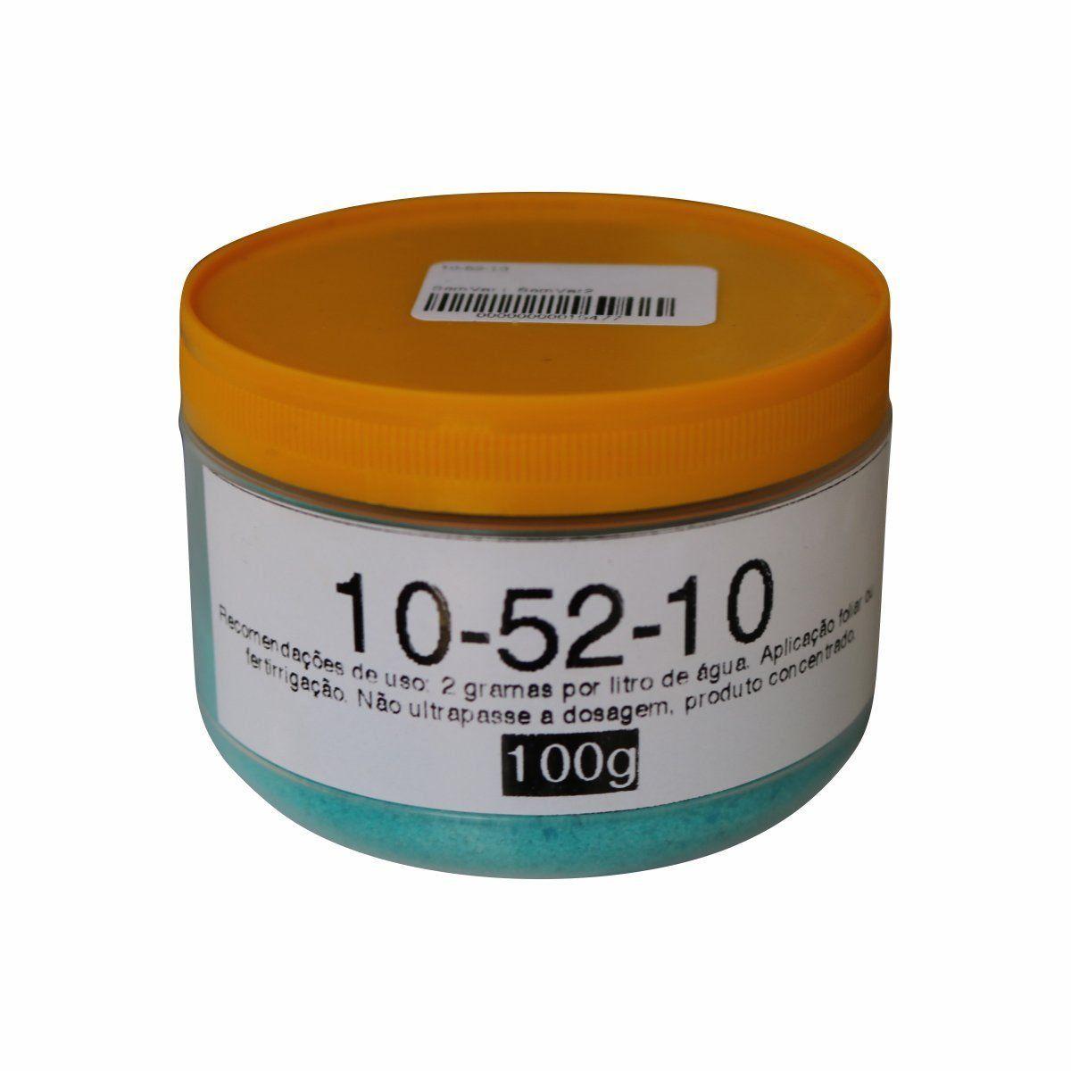 Fertilizante Plant-Prod 10-52-10 100g Foliar ou para Fertirrigação