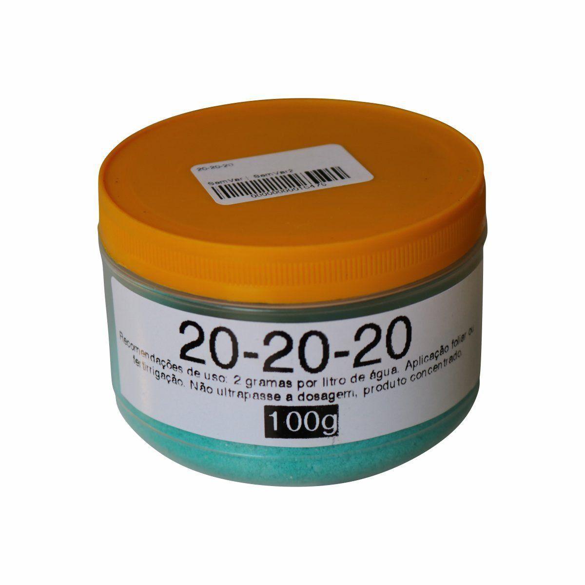 Fertilizante Plant-Prod 20-20-20 100g Foliar ou para Fertirrigação