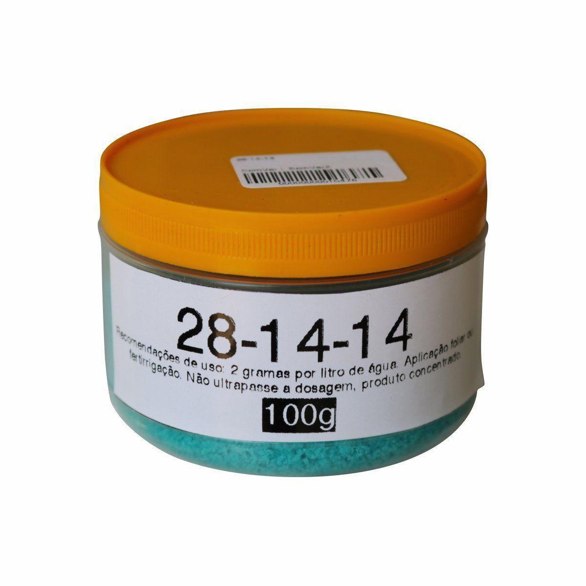Fertilizante Plant-Prod 28-14-14 100g Foliar ou para Fertirrigação