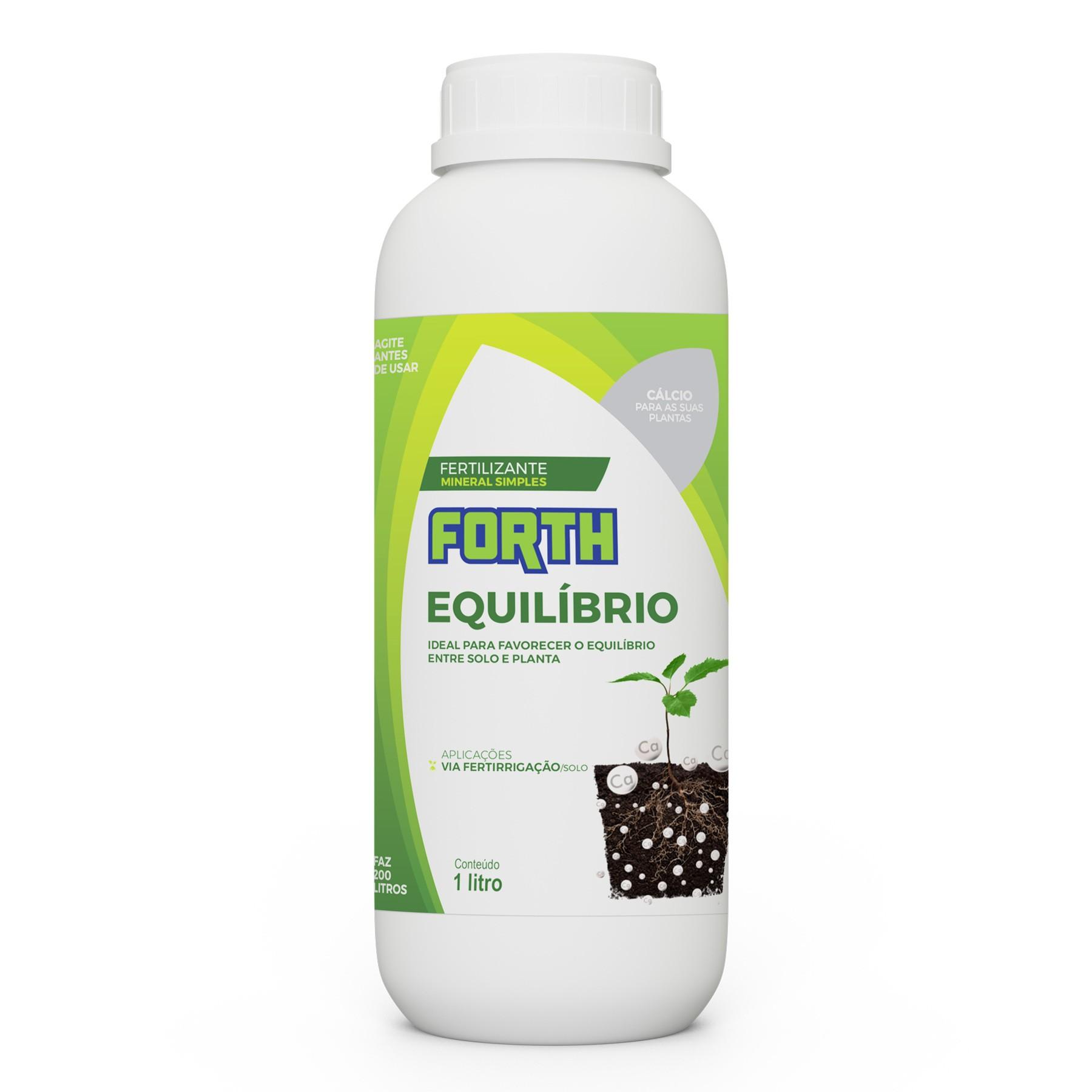 Fertilizante via solo Forth Equilíbrio 1 litro Concentrado (Carbonato de Cálcio)