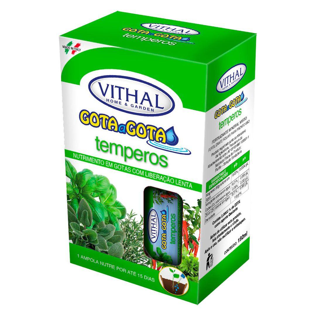 Fertilizante Vithal Gota a Gota para Temperos com 6 Ampolas de 32ml