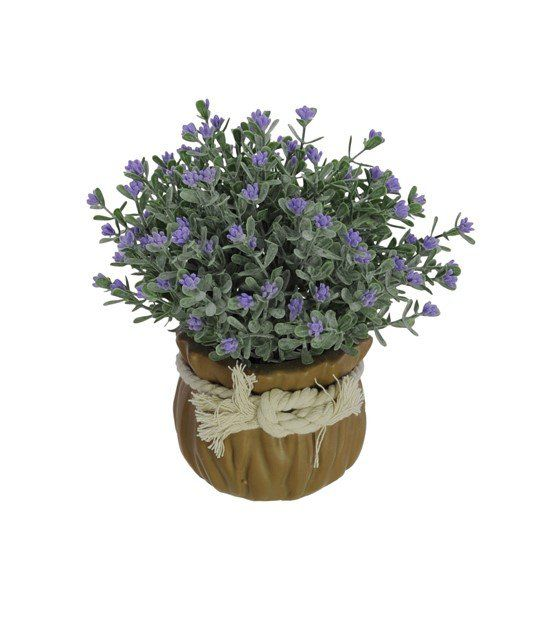 Flor Mini Flocked lavanda artificial 17cm - 29257001