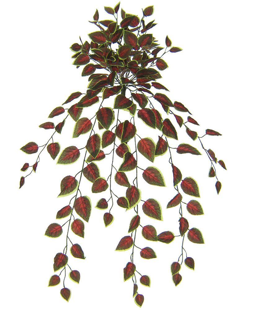 Folhagem artificial Coleus de Pendurar X180 Verde e Vinho 80cm - 01511003