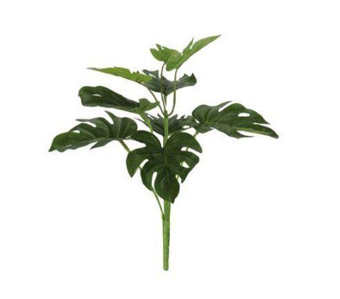 Folhagem artificial Costela de Adão Real Toque X9 34cm Verde - 39486001