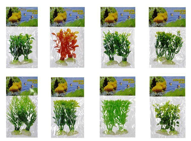 Folhagem artificial para aquário embalagem com 2 unidades - Cores sortidas 15304001