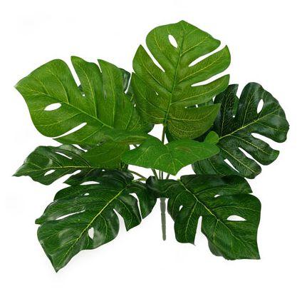 Folhagem Costela de Adão Arbusto Artificial 35cm