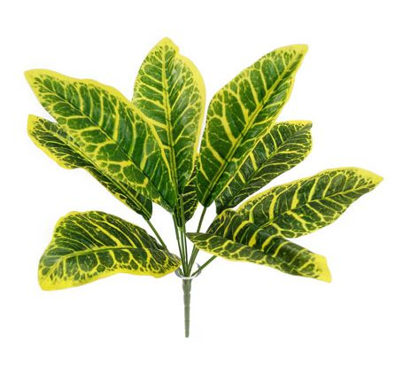 Folhagem Croton Arbusto Artificial 35cm