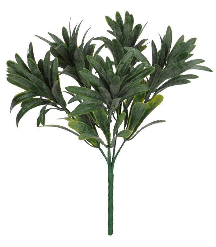 Folhagem Podocarpus artificial com powder 27cm - Verde - 28270001