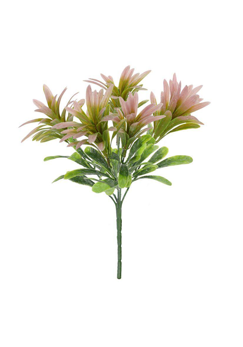 Folhagem Podocarpus artificial com powder 27cm - Verde Outono - 28270002