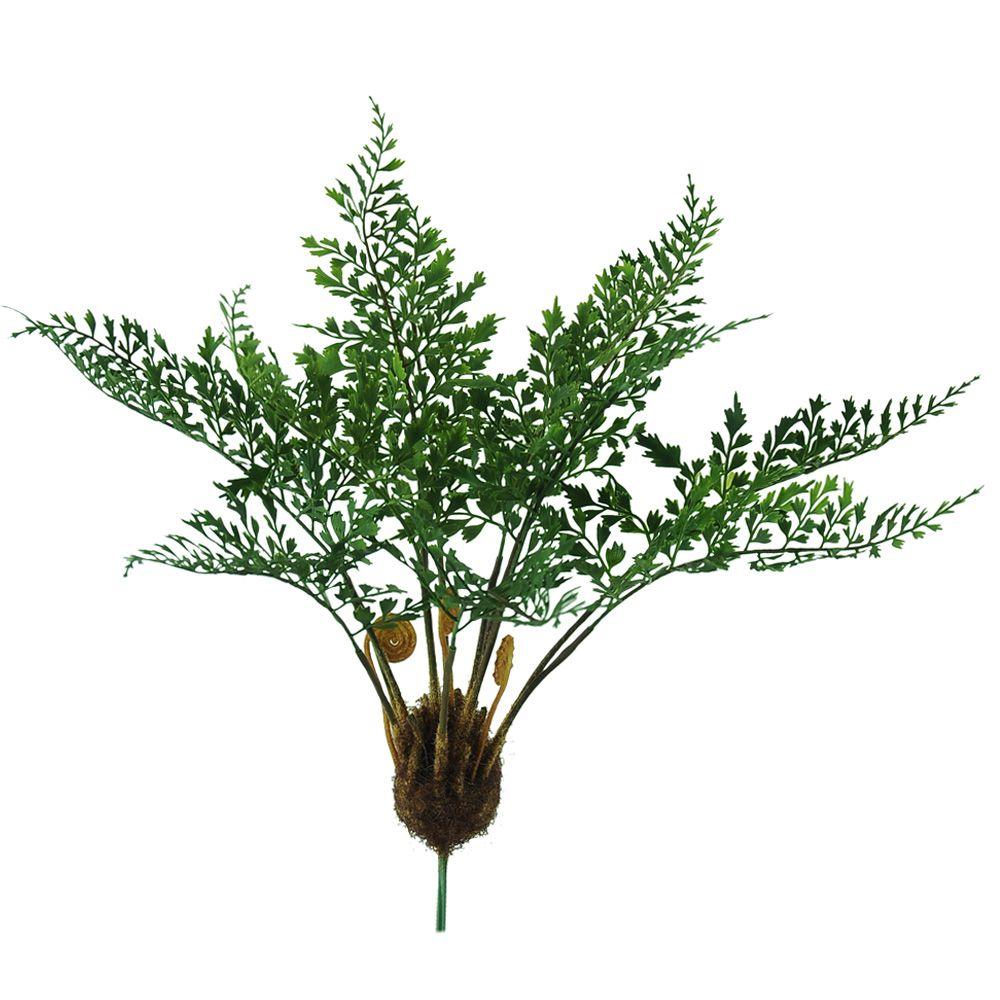 Folhagem Samambaia Artificial Verde PLT X12 31cm - 40363001
