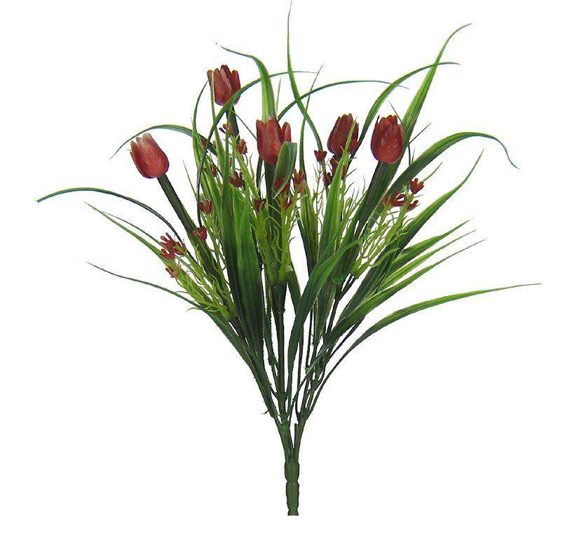 Folhagem Tulipa artificial PLT X vermelho 35 cm 08463001
