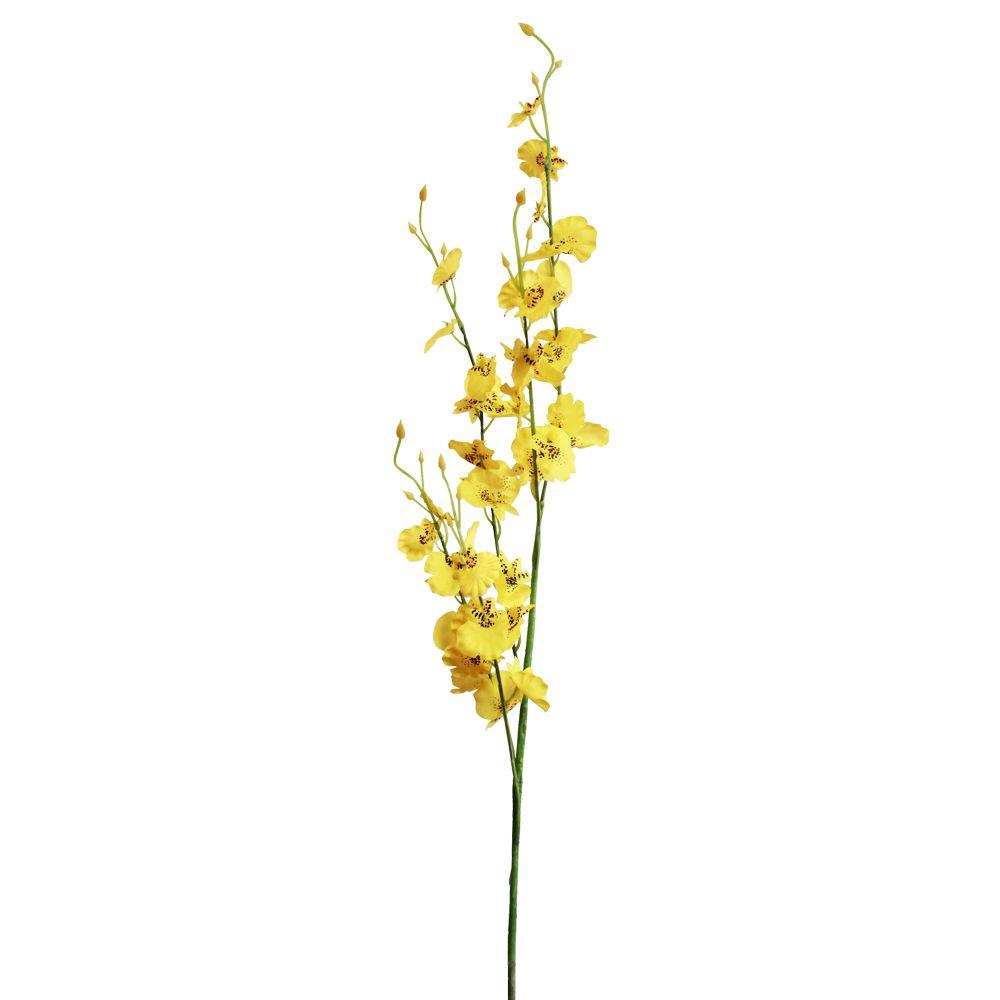 Haste de Flores Orquídea Chuva de Ouro Artificial 90cm