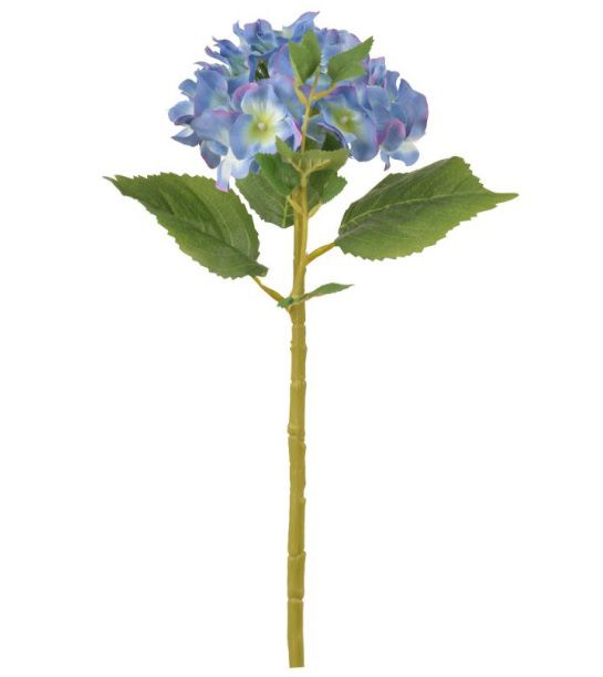 Haste de Hortênsia Azul artificial 49cm - 40436002