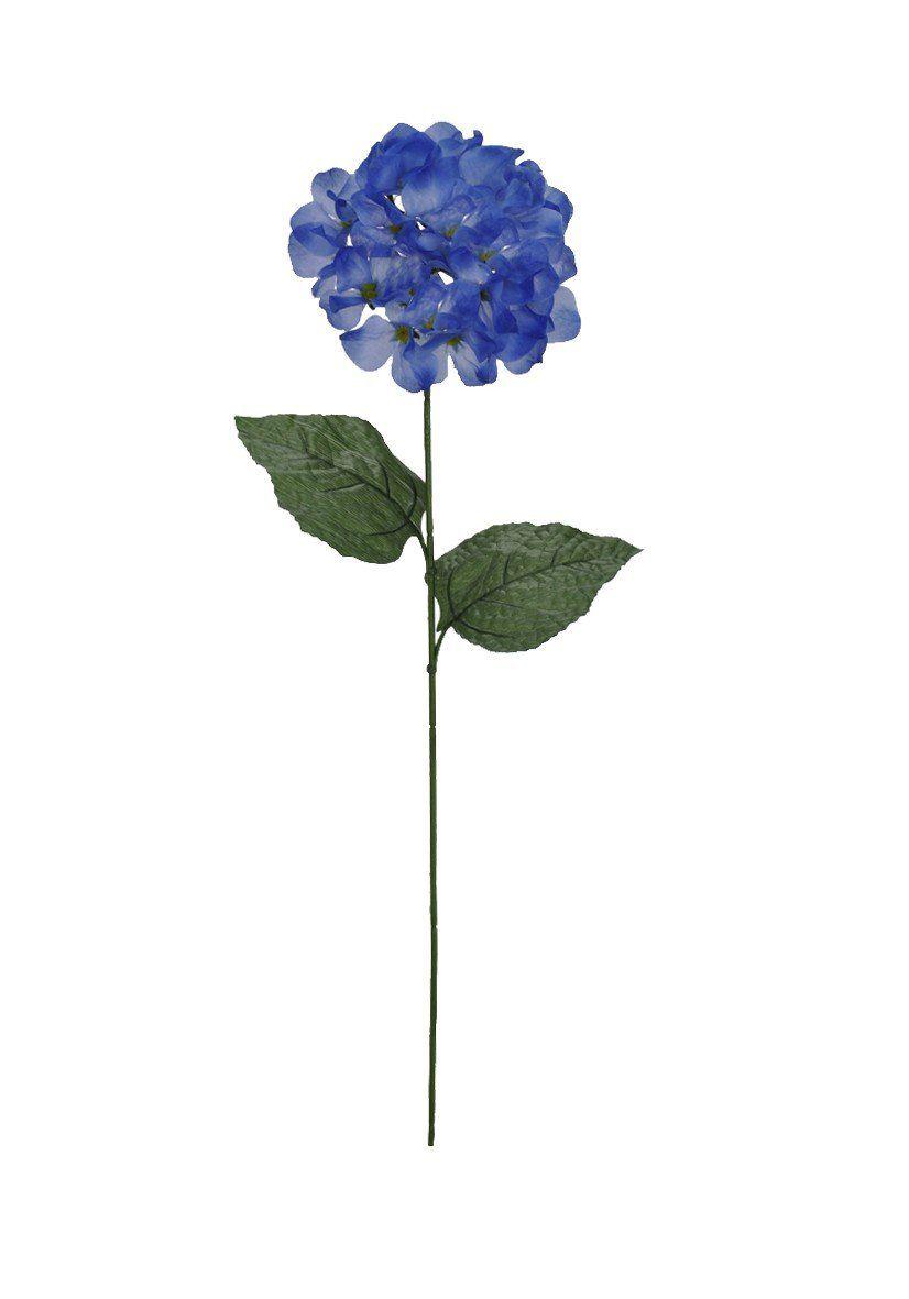 Hortênsia artificial Azul e Verde 71cm - 32068006