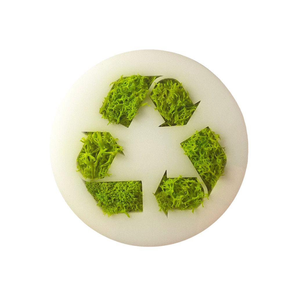 Ímã de Geladeira Ecoticon Natural Recicle 10cm