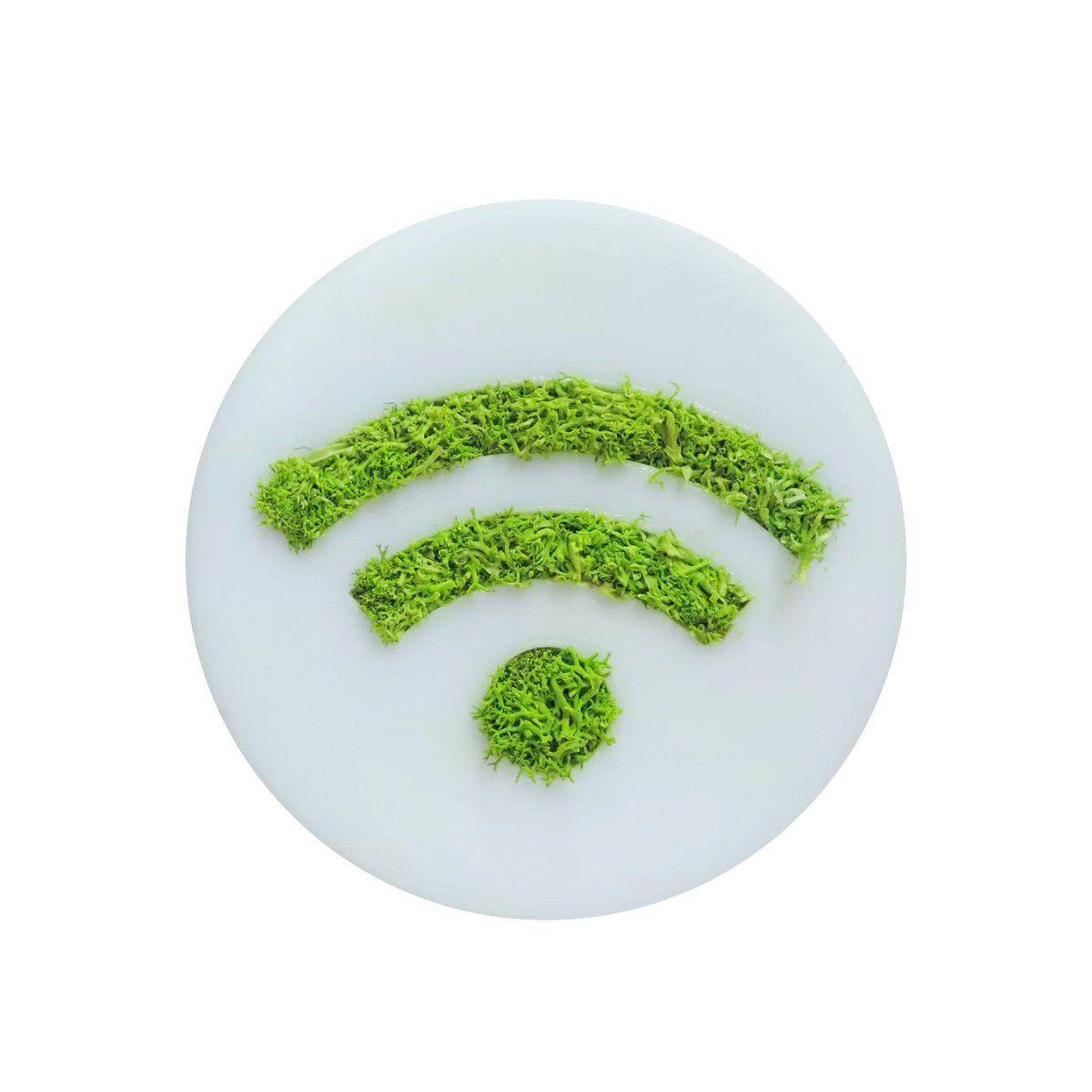 Ímã de Geladeira Ecoticon Natural Sinal Wi-Fi 10cm