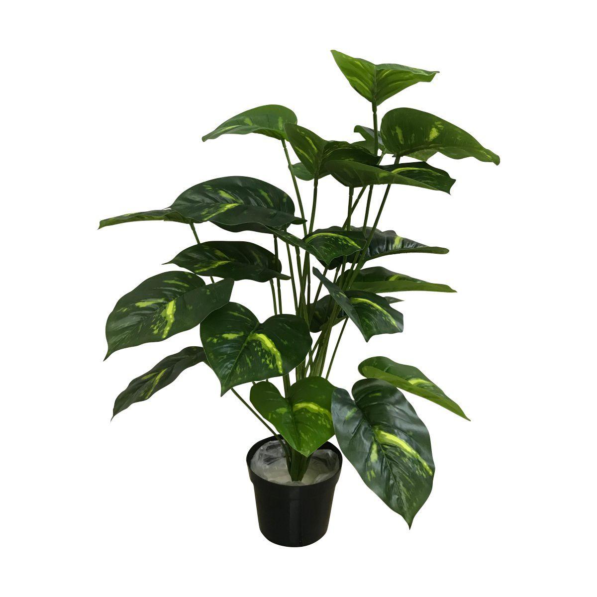 Jiboia Artificial Verde X24 com vaso 70cm