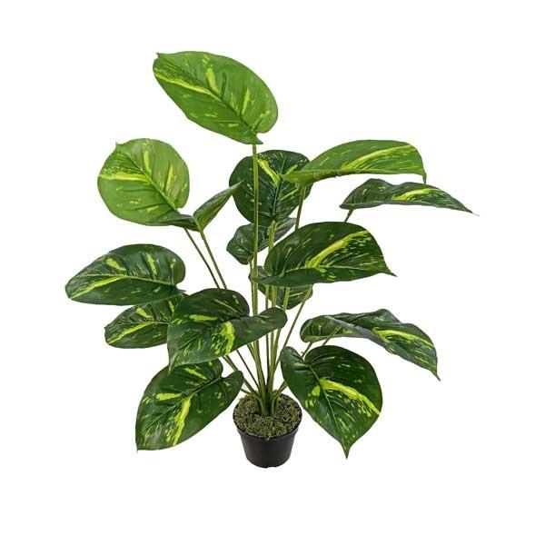 Jiboia Artificial Arbusto Verde 18F com vaso 70cm