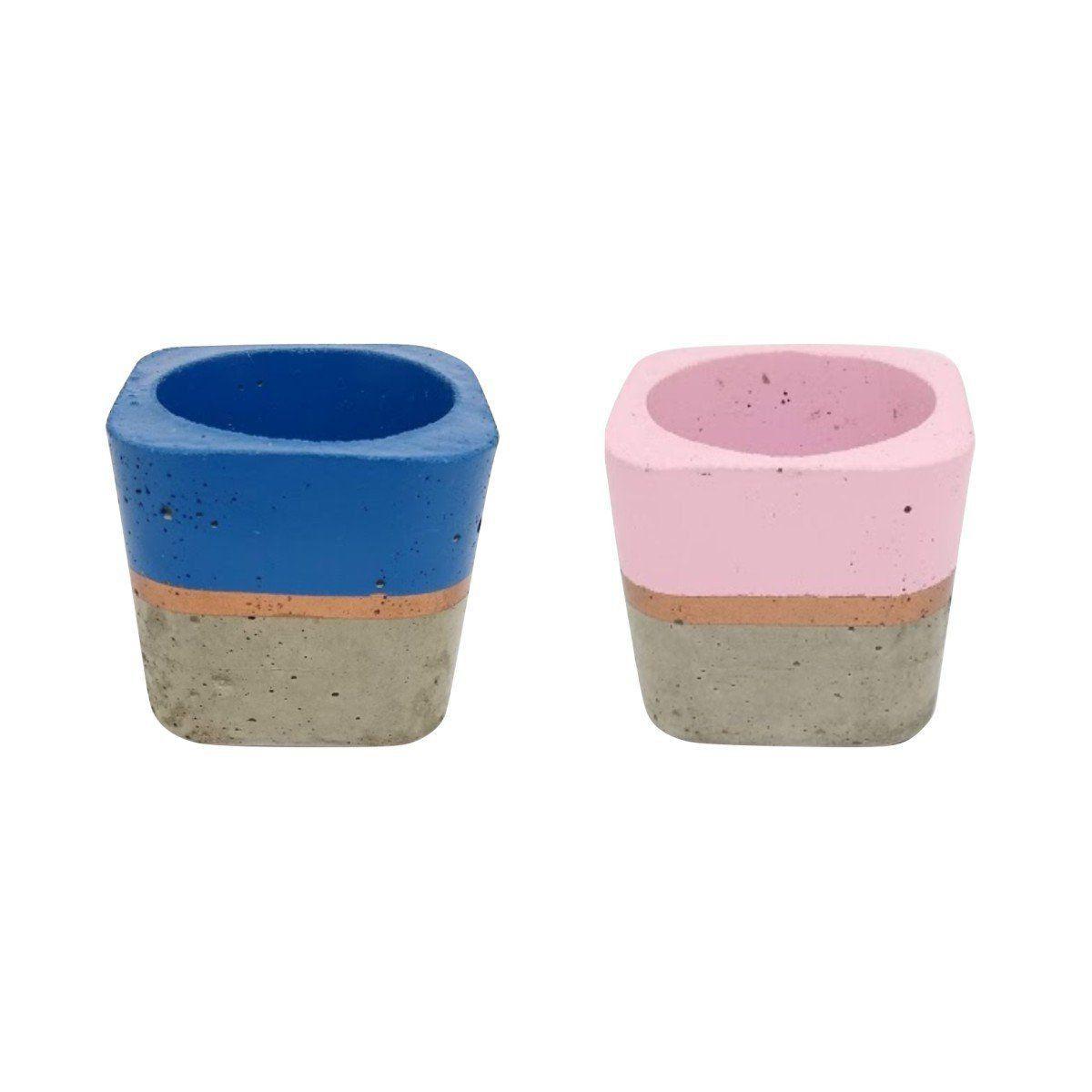 Kit 2 vasos de cimento 5,5cm x 6cm MD0404AZCRSC