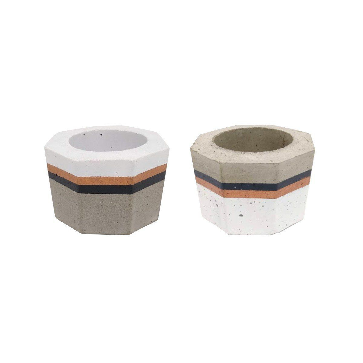 Kit 2 vasos de cimento 5cm x 8cm MD1313PCBBCP