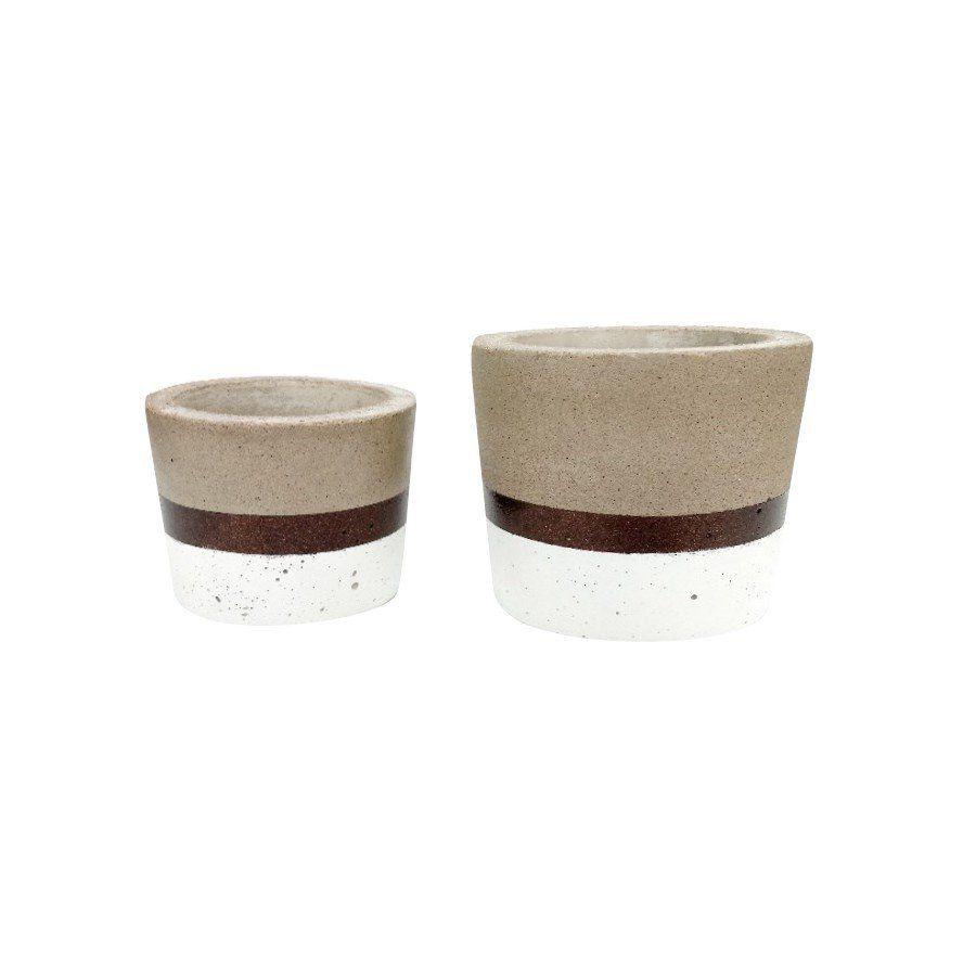 Kit 2 vasos de cimento MD1815BBZ