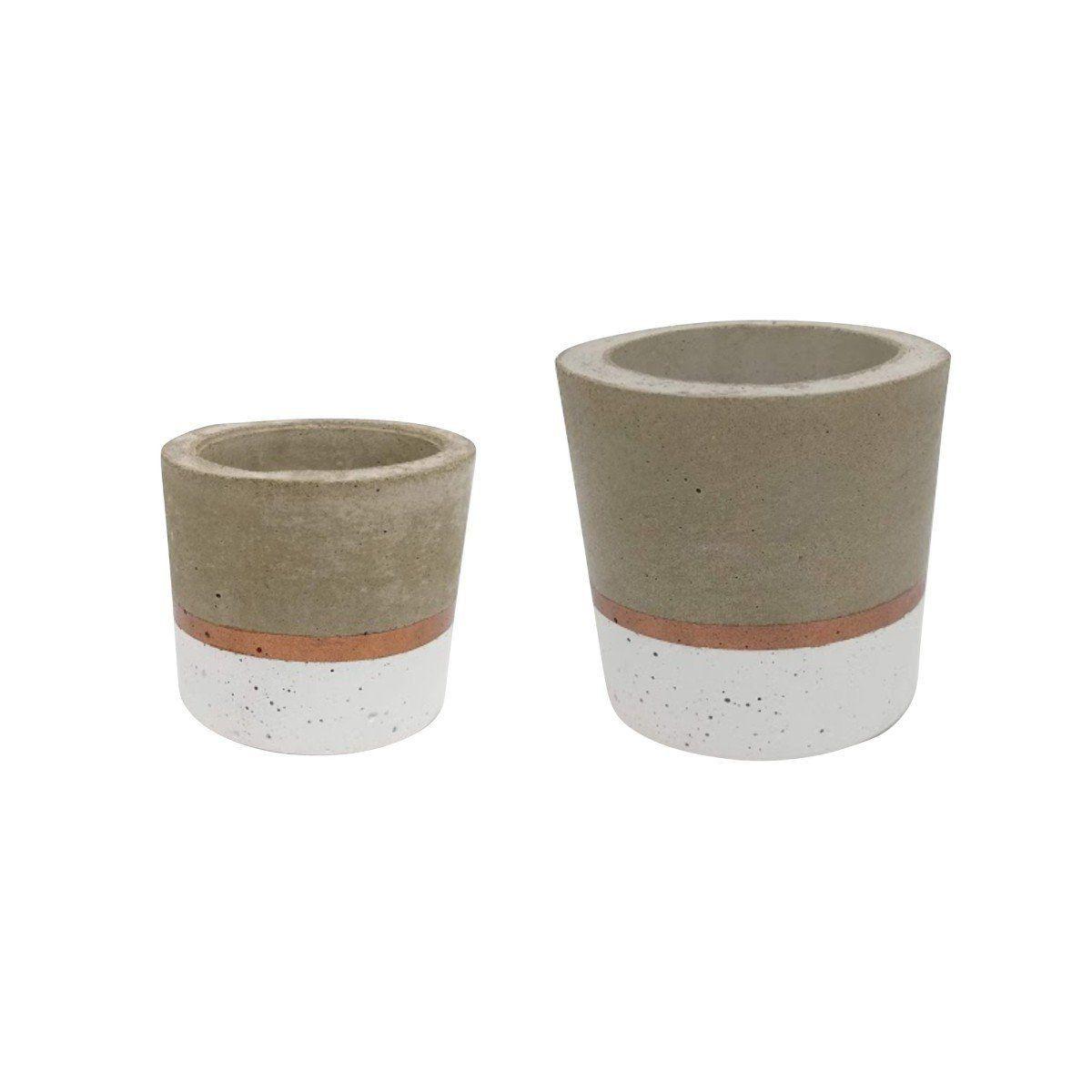 Kit 2 vasos de cimento MD1815BC