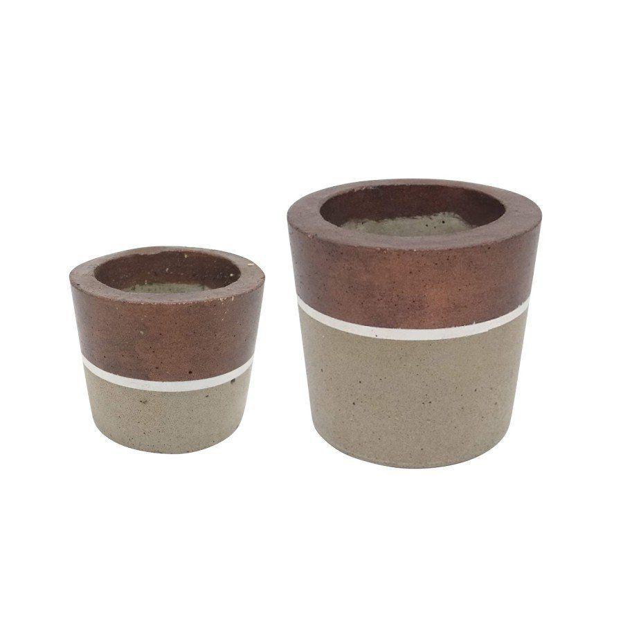 Kit 2 vasos de cimento MD1815BZB
