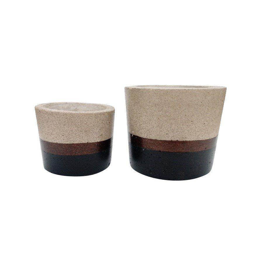 Kit 2 vasos de cimento MD1815PBZ