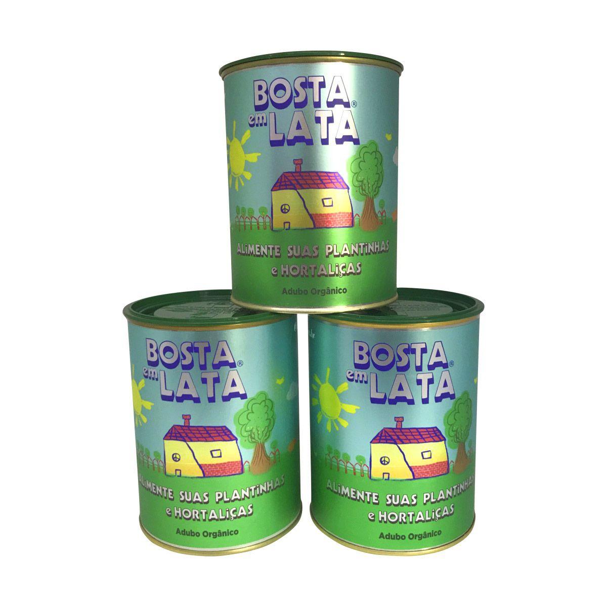 Kit 3 latas de Adubo Orgânico Bosta em Lata 500g