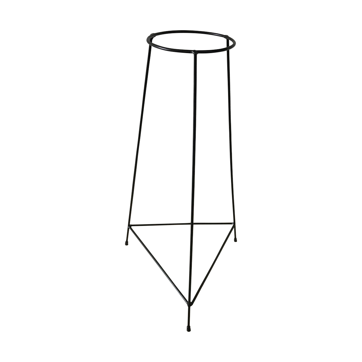 Kit 3 Suportes Tripé Triangular Preto para Vaso Autoirigável Grande N04 Raiz
