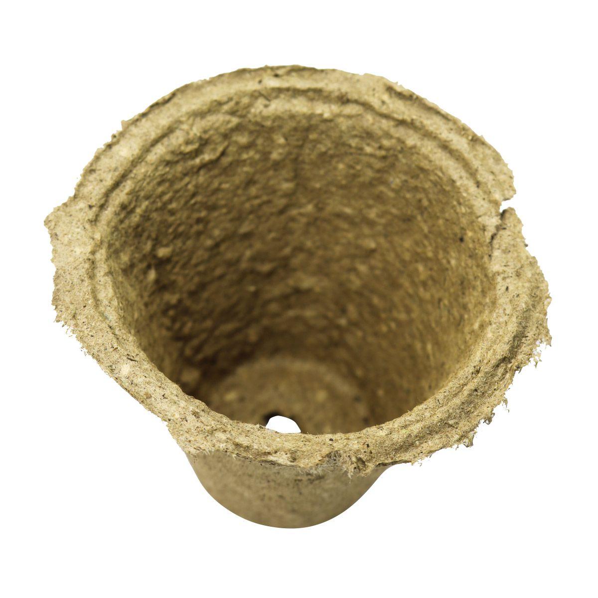 Kit com 10 Vasos Biodegradáveis para plantio de sementes 9,5cm x 9,5cm