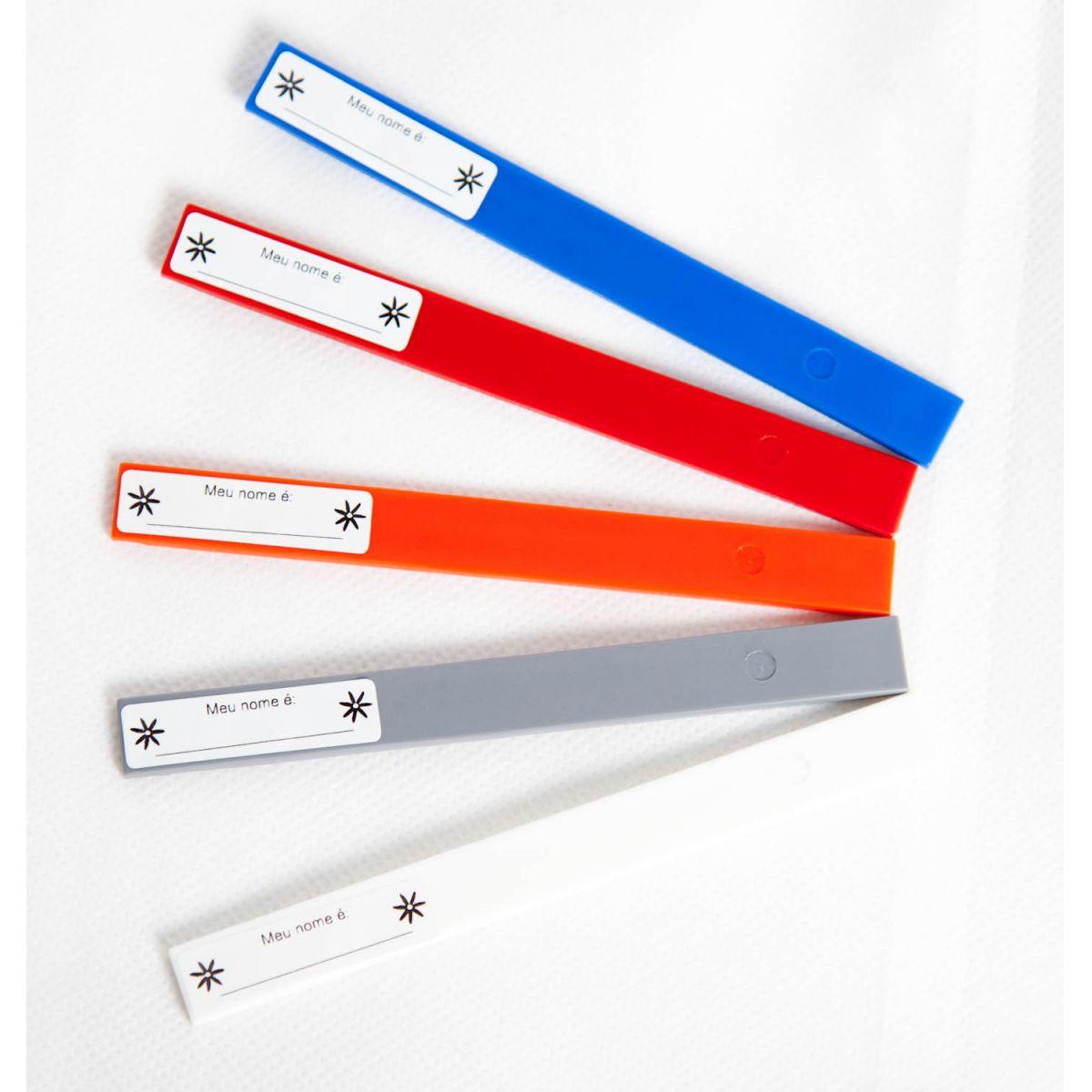 Kit com 12 Plaquetas de identificação 12 cm - FAZFORT
