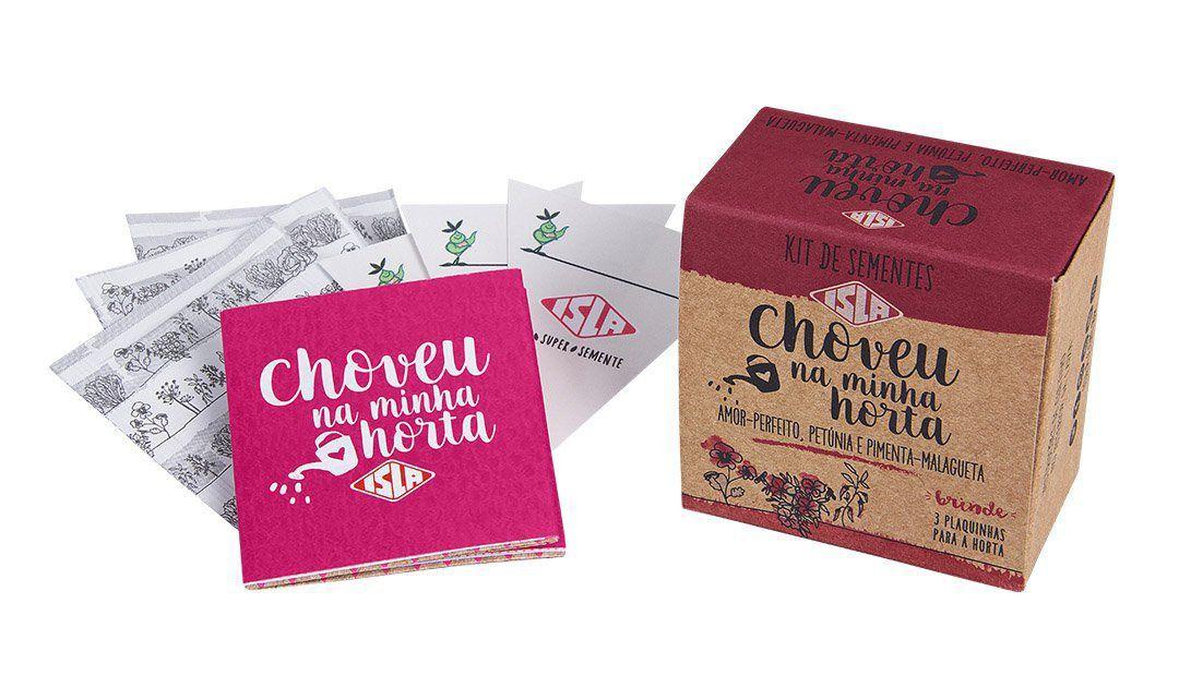 Kit de Sementes - Choveu na Minha Horta (Amor Perfeito, Petúnia e Pimenta) Isla