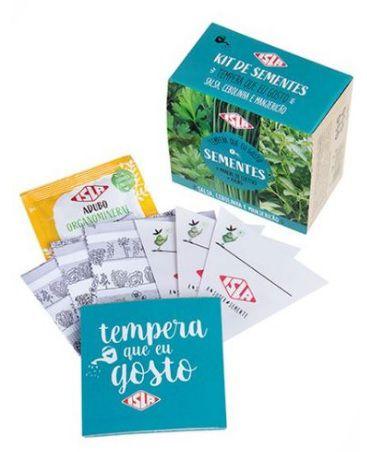 Kit de Sementes - Tempera Que Eu Gosto (Salsa, Cebolinha e Manjericão) Isla