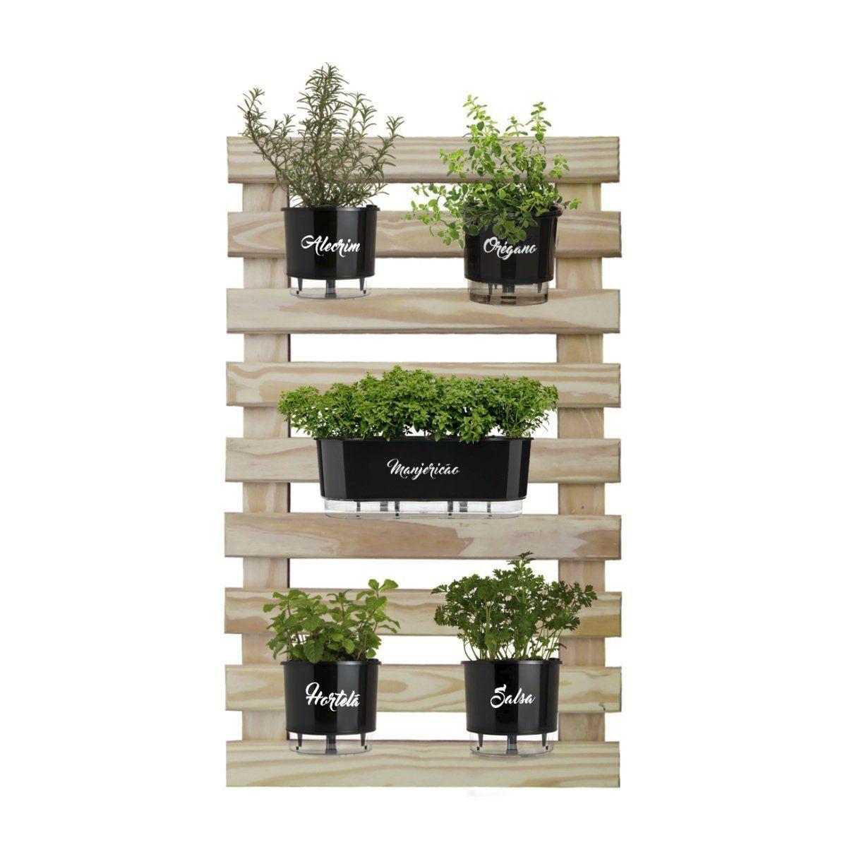 Kit Horta Vertical Gourmet 100cm x 60cm Completa