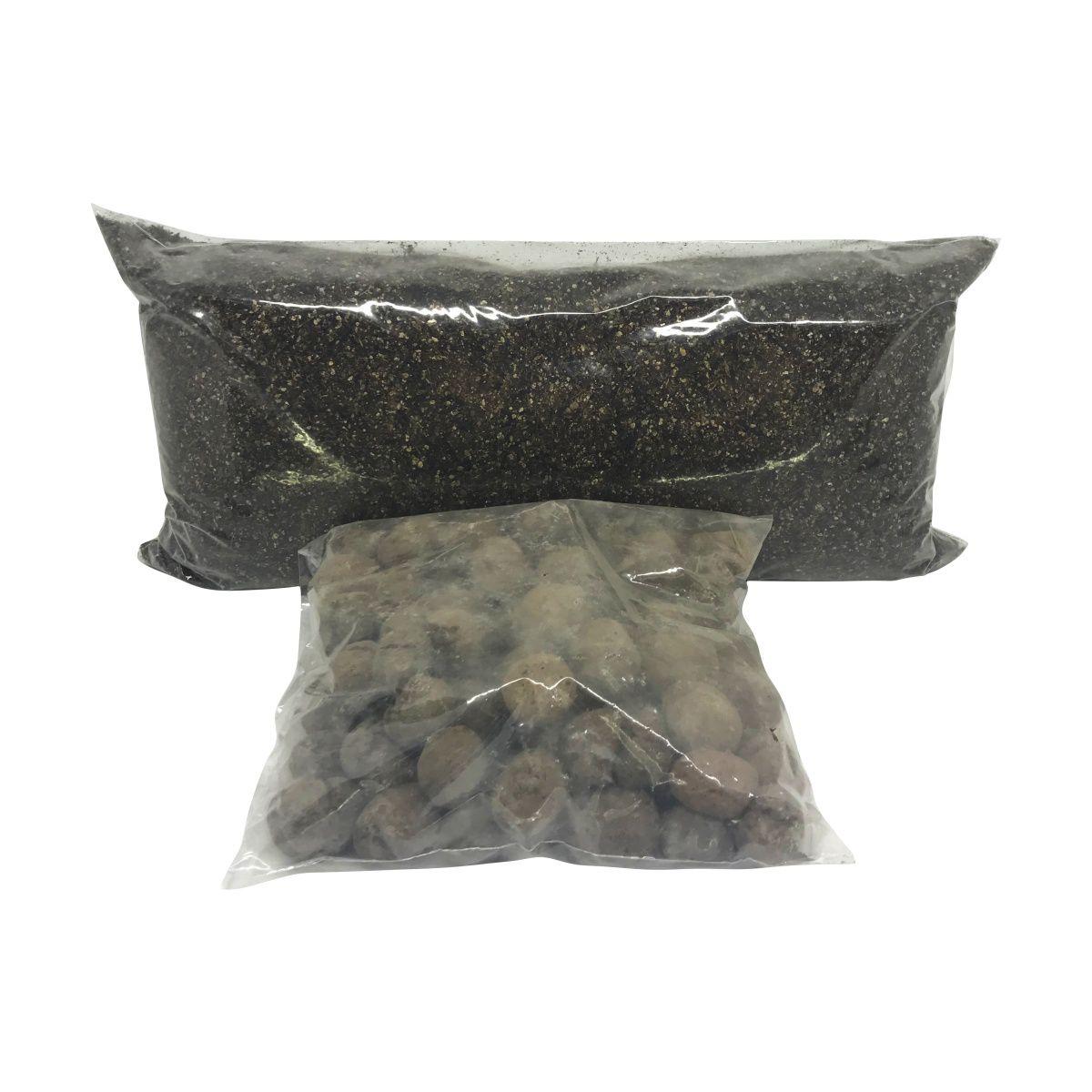 Kit Substrato para Vaso Autoirrigável Jardineira Raiz + Argila Expandida