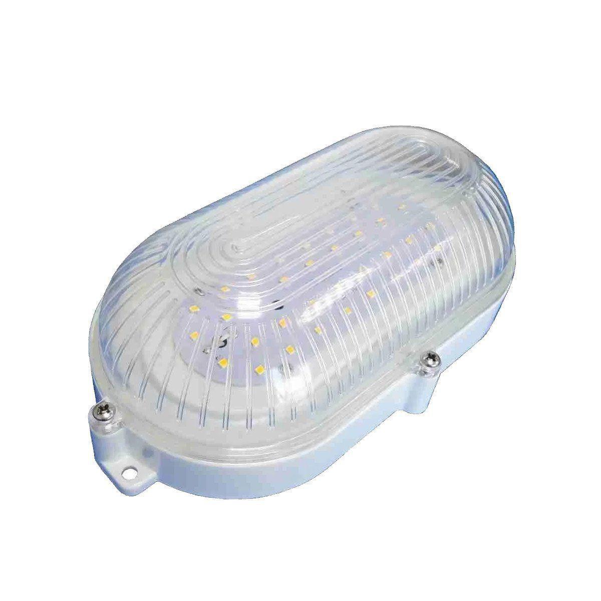 Luminária Arandela Tartaruga 7W Carcaça Branca Bivolt - 6200