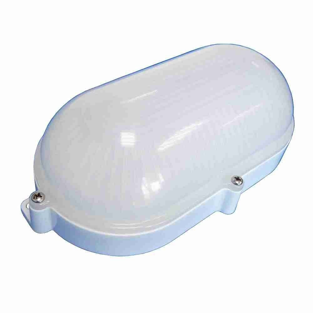 Luminária Arandela Tartaruga 7W Carcaça Branca Difusor Leitoso Bivolt - 6202