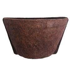 Meio Vaso de Parede 10 com Placa Pequena 17cm x 12cm COQUIM