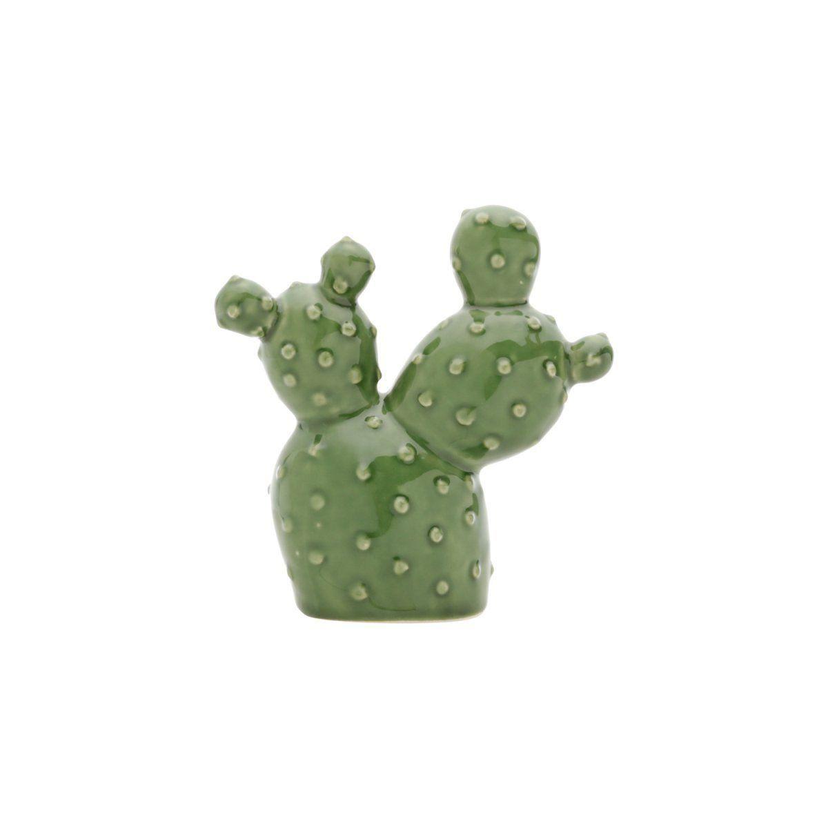 Mini Cacto de Cerâmica Decorativo Verde 12cm - 41174