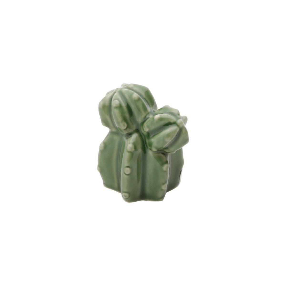 Mini Cacto de Cerâmica Decorativo Verde 5cm x 4cm - 41175