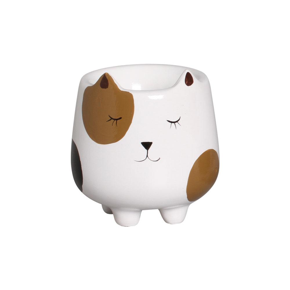 Mini Vaso de Cerâmica para Suculentas Bichinho Marrom 10cm x 9,5cm - 6206