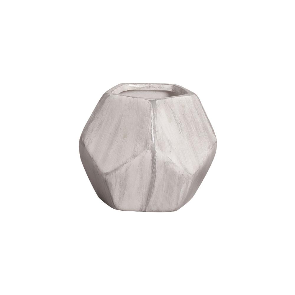Mini Vaso de Cerâmica para Suculentas Geométrico Mesclado 8cm x 11cm - 6245