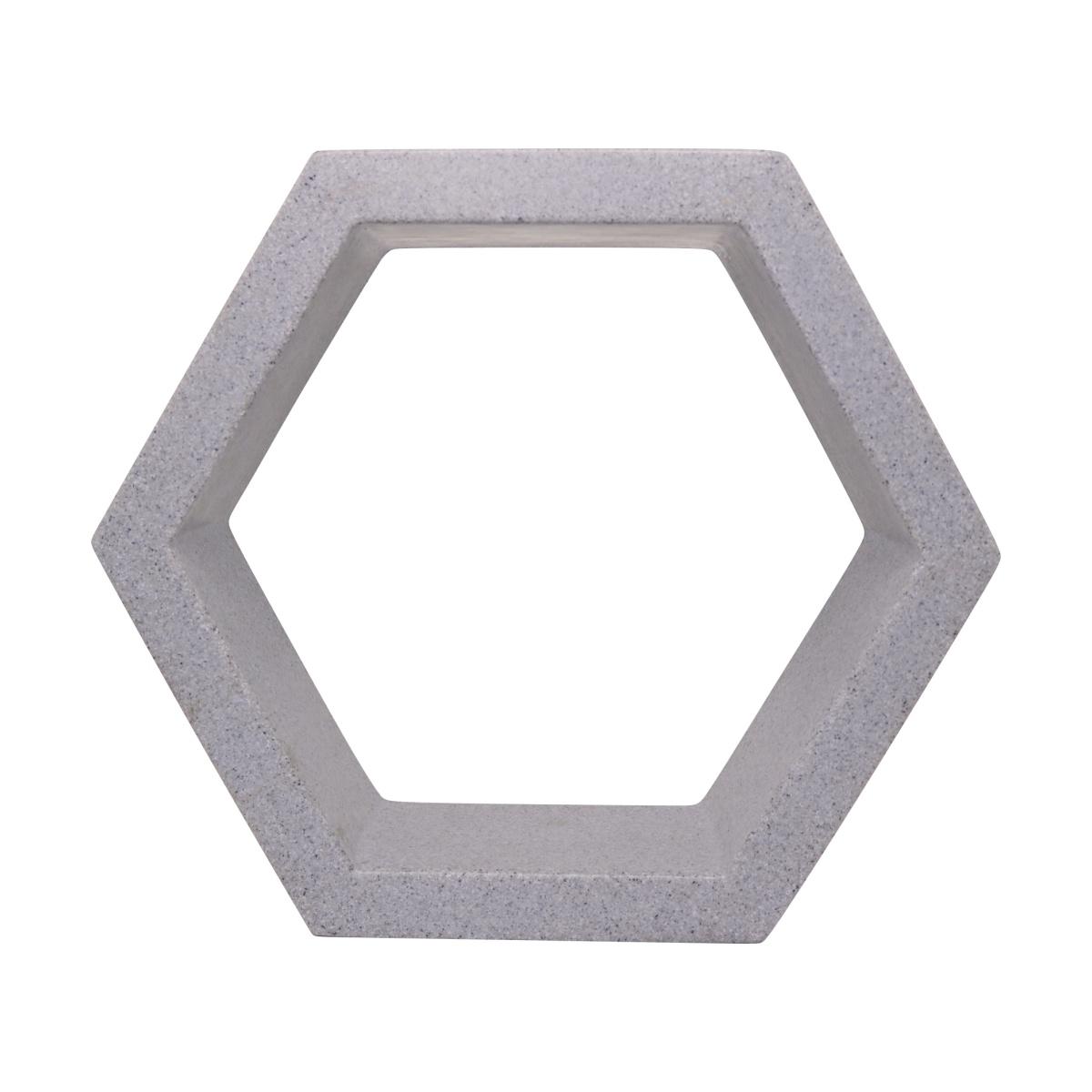 Nicho Sextavado Vogue cor Cinza Pedra 29,5cm x 34cm - CPP1-CP