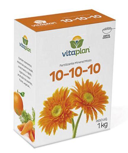NPK 10-10-10 Vitaplan 1 Kg Grátis dosador!
