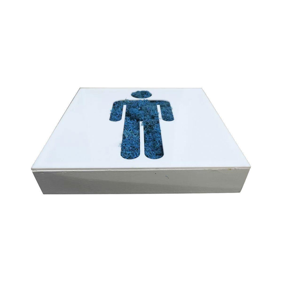 Pictograma Natural Lavabo Masculino Azul 20 cm x 20cm